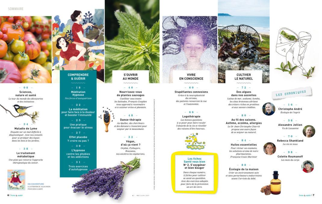 magazine-sens-et-sante-numero2-sommaire